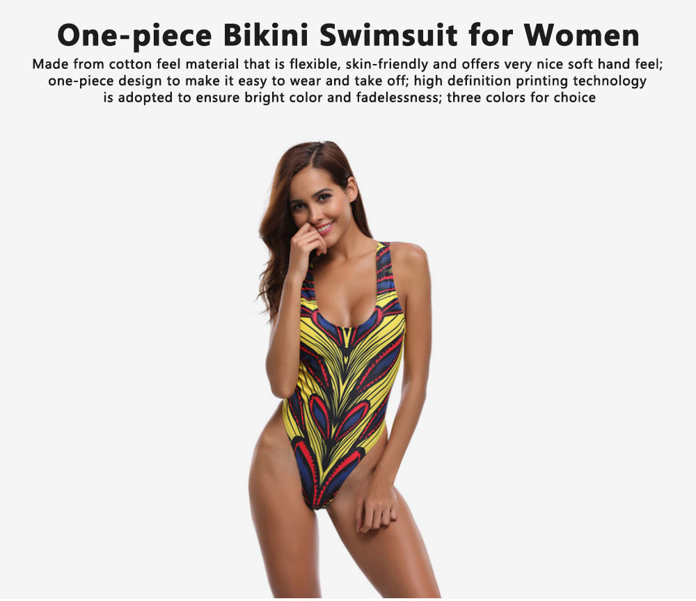 Vintage Style Romance Floral Classic Swimsuit, One-piece Swimsuit Women Bikini Best-selling in 2019  0