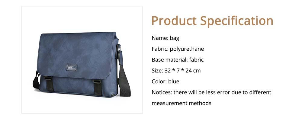 Single Shoulder Bag PU Material Bag for Men Large Capacity Bag Waterproof Pack 6