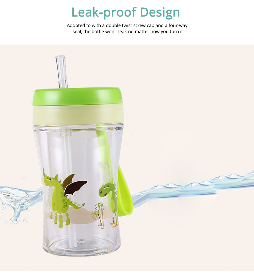 Safe Material Bottle with Straw Leak-proof Glass Choke-resistance for Baby Learning Drink Cup 2