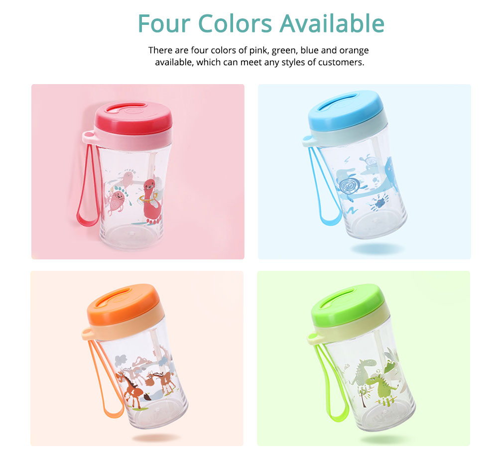 Safe Material Bottle with Straw Leak-proof Glass Choke-resistance for Baby Learning Drink Cup 5