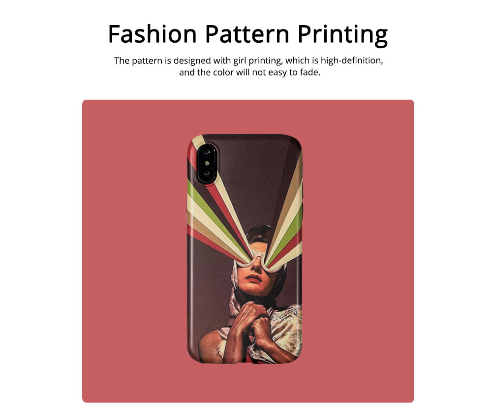 Soft TPU Matte Phone Case Full Enclosed Compatible for iPhone 6 6s 7 8 XS Max XR 7P 8P with Girl Rainbow Print iPhone Shell 1
