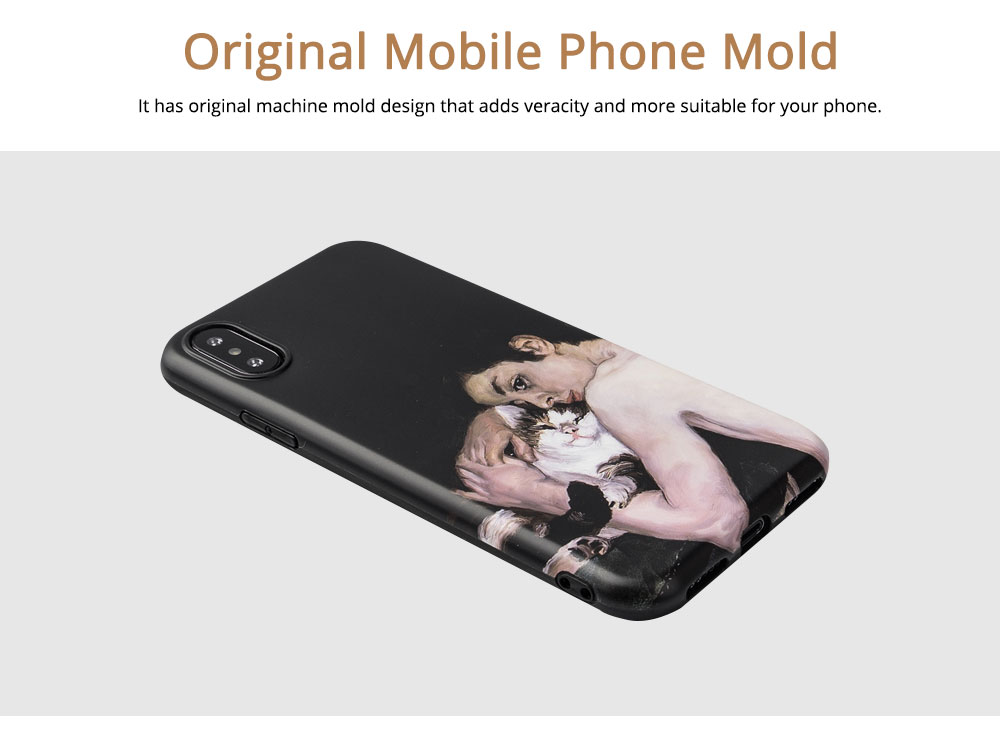 Blue Boy Mobile Phone Cover for iPhone, High-quality TPU Oil Painting Gorgeous Phone Shell 2