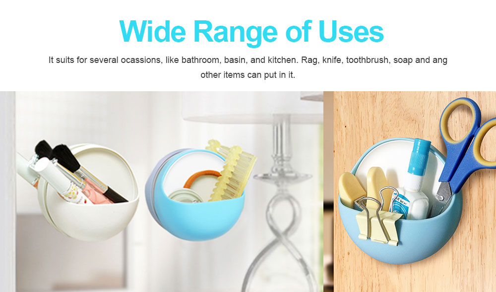 Plastic Suction Cup Soap Holder for Bathroom Toothbrush Box Dish Accessories, Punch Free Wall Mounted Soap Storage Case 4