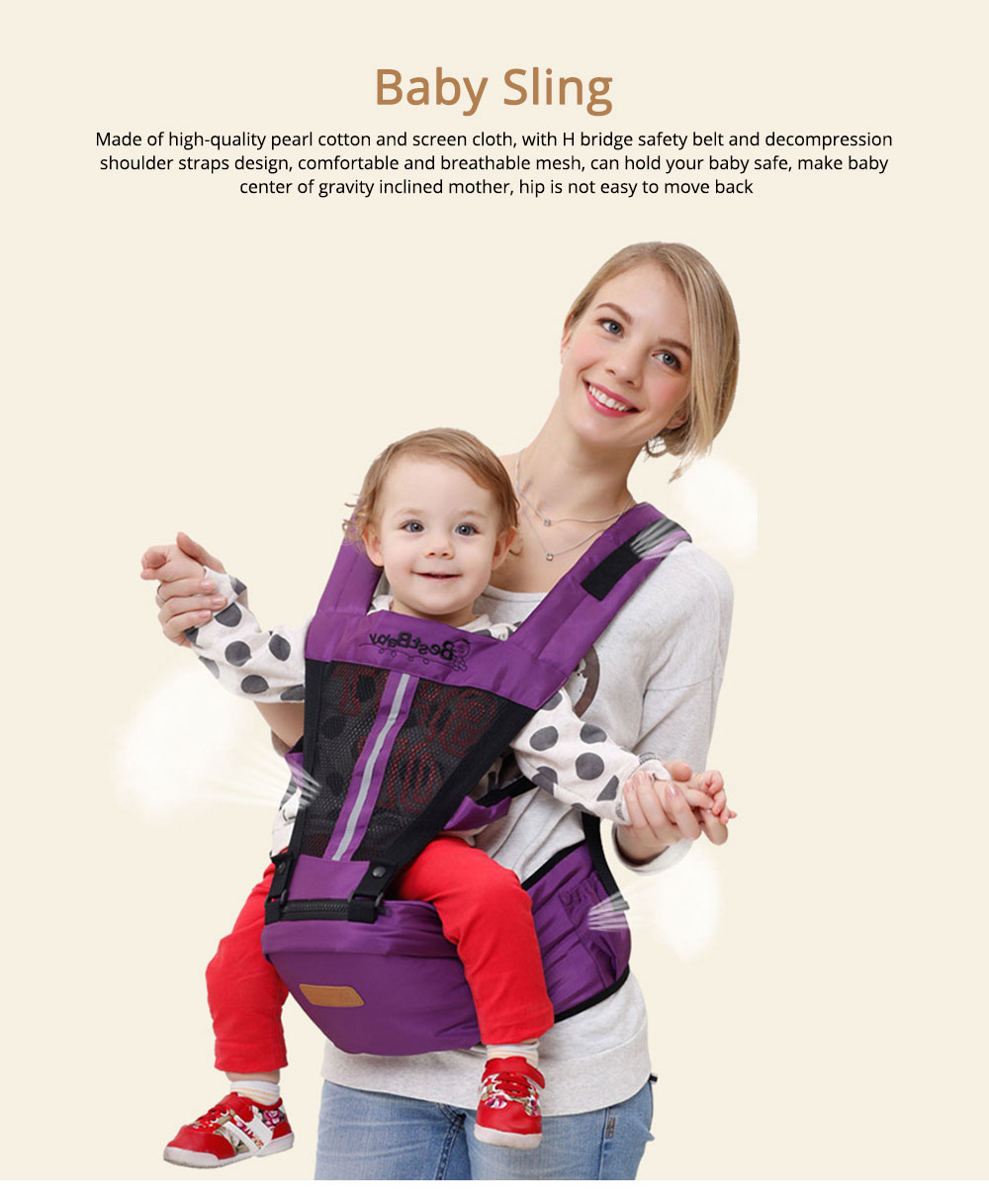 Ergonomic Baby Carrier Baby Sling, Soft & Breathable Baby Carriers Backpack Front and Back for Babies Younger than 36 Months 0