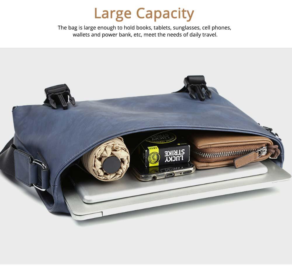 Single Shoulder Bag PU Material Bag for Men Large Capacity Bag Waterproof Pack 2