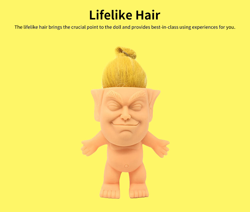 Delicate Smooth Enamel Simulated Troll Doll, Creative Cute Garage Kit Table Ornament Decoration 2