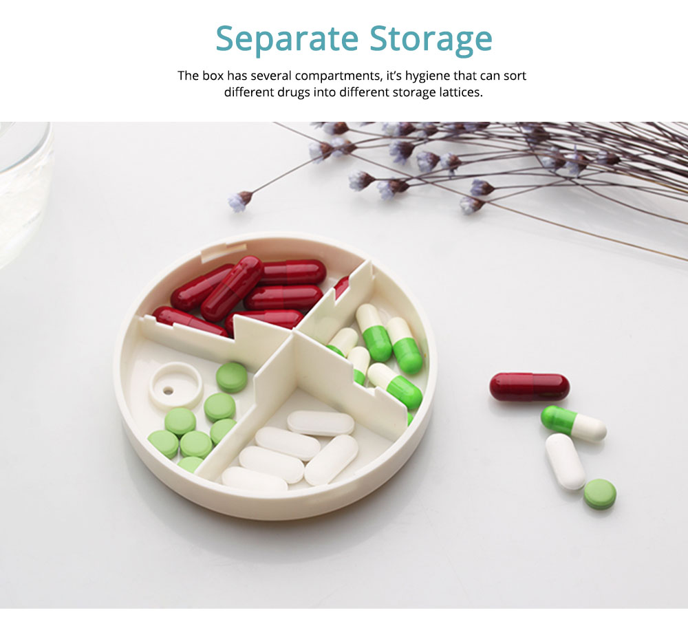 Smart Timing Alarm Pill Case Medicine Box PP Material Drug Container with Separate Lattices Store Bottle 2