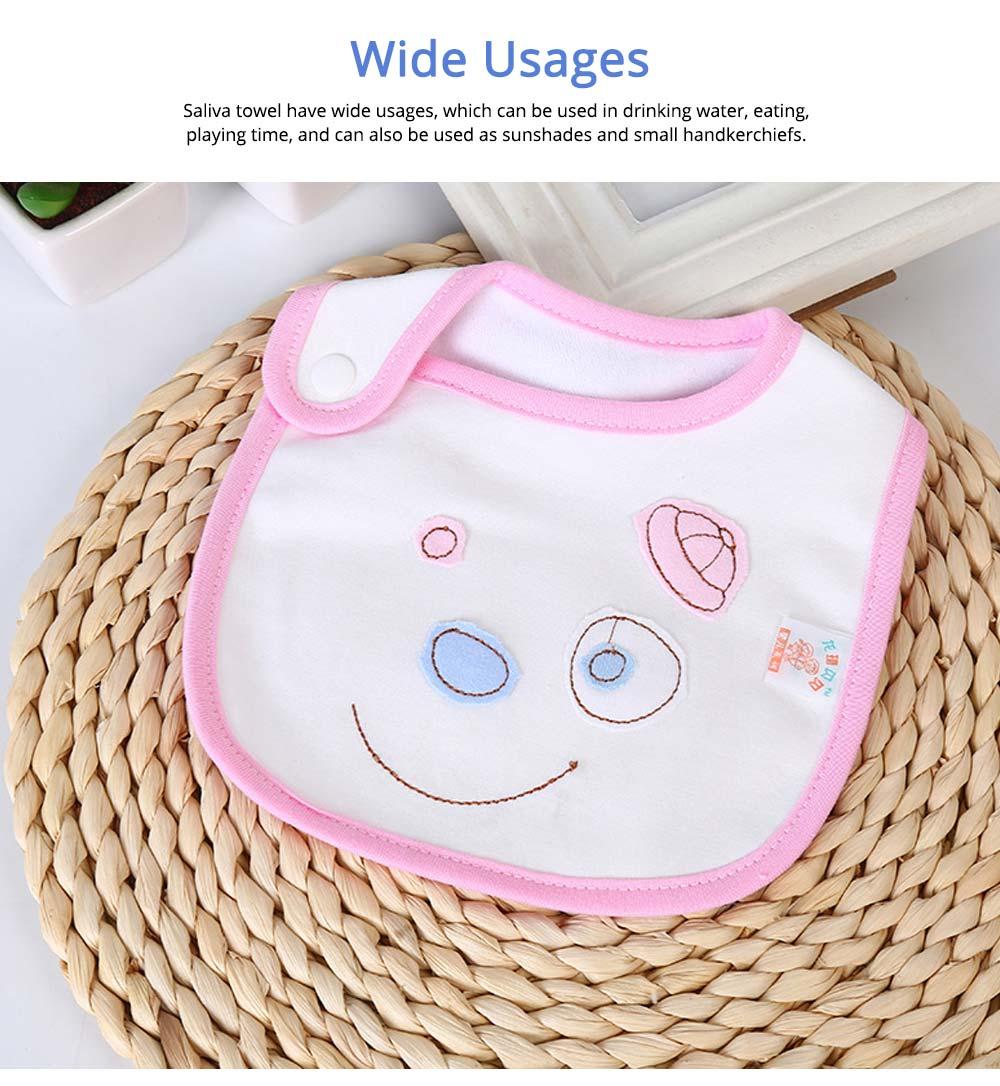 Cotton Velvet Material Saliva Towel for Baby, Waterproof Saliva Cover with Buckle Baby Bib 5