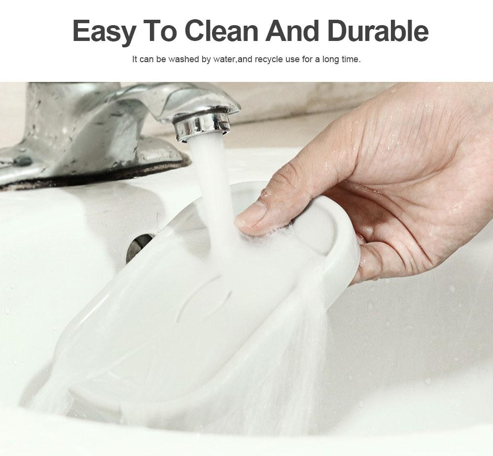 Creative Circular Asphalt Soap Box for Bathroom, Concise Bathroom Soap Holder for Men Women Soap Organizer Box 5