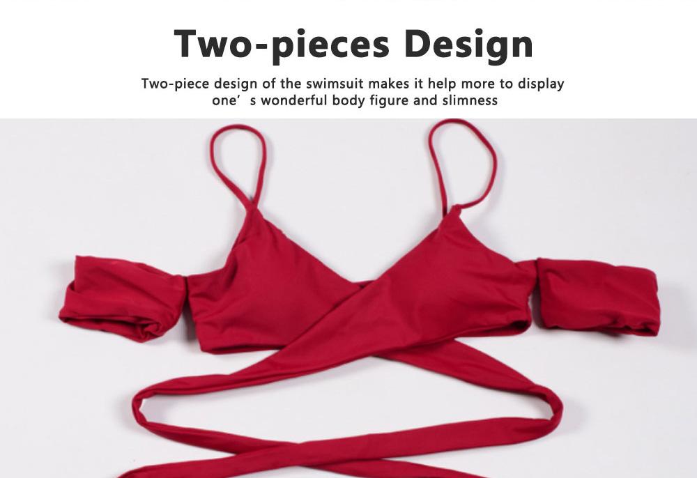 Girl Two Piece Swimsuit, New Style Swimsuit Sexy Bikini for Women 2
