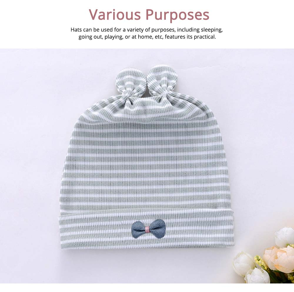Natural Cotton Hat High Elasticity Headgear with Cute accessories for Baby Cap 3
