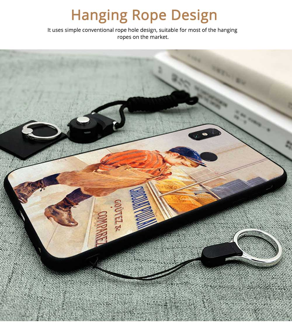 Vintage Oil Painting Mobile Phone Cover, Greedy Little Boy Printing  Phone Case for 6s, 6sp, 7p/8p, XS, XR 4