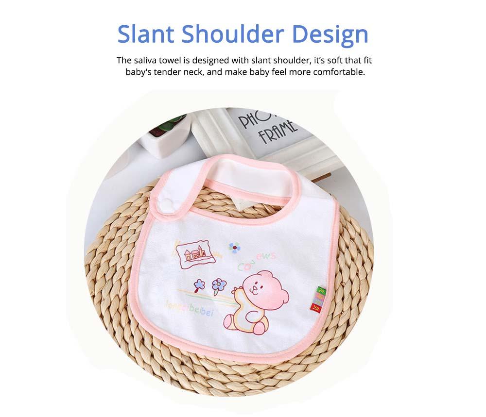 Cotton Velvet Material Saliva Towel for Baby, Waterproof Saliva Cover with Buckle Baby Bib 1