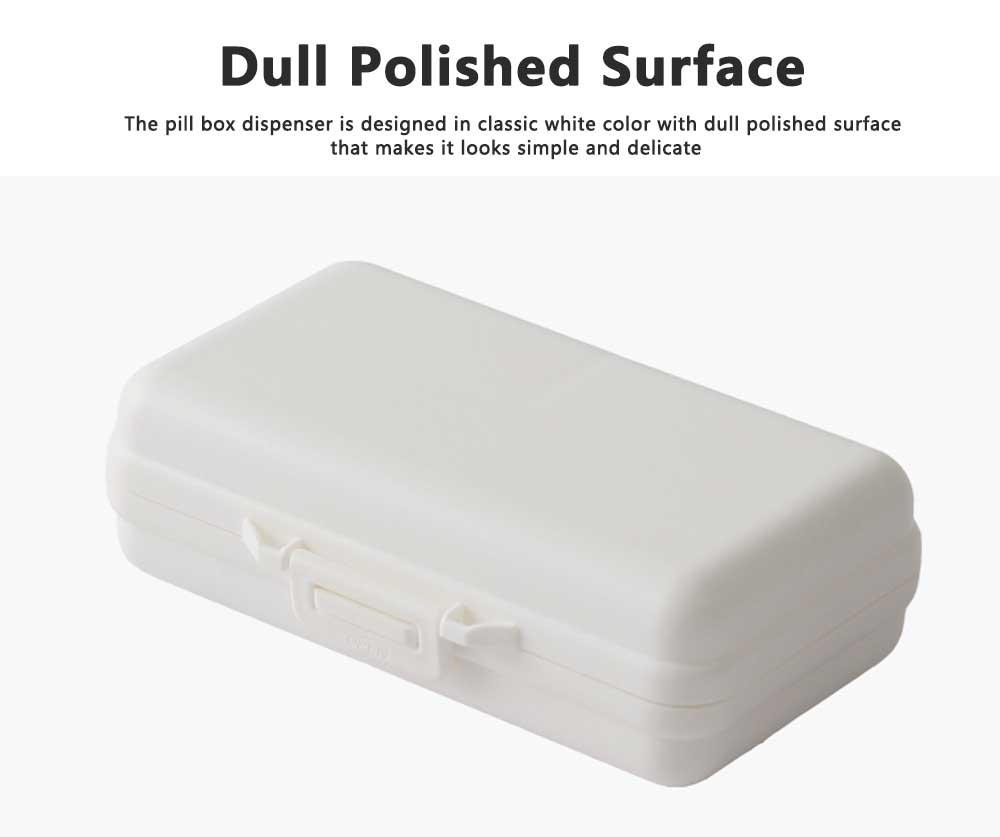 Seven-day Pill Box Dispenser Portable Pill Organizer for Travelling, Mini Medicine Organizer Container with 7 Sub-boxes 4