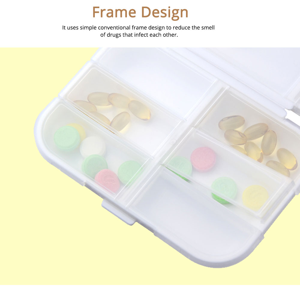Large Capacity Weekly Pill Box for Daily Life Travelling Outdoors, Portable Food Grade PP Jewelry Box 4