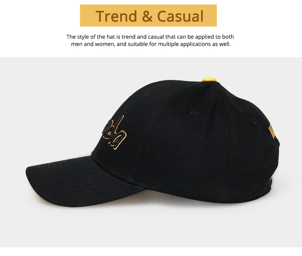 Hip-hop Cap with 3D Embroidery for Women Men, Sunny Day Essential Cap with Adjustable Strap 5