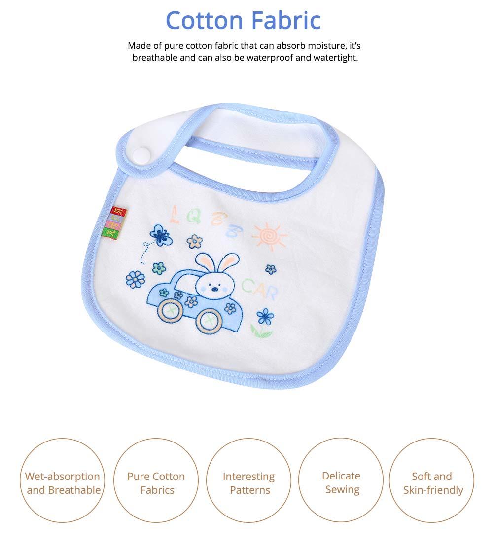 Cotton Velvet Material Saliva Towel for Baby, Waterproof Saliva Cover with Buckle Baby Bib 4
