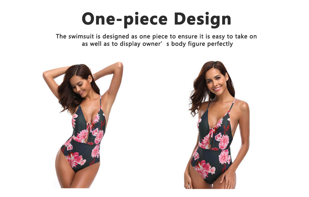 Retro Style Swimsuit Bikini for Women in 2019 Waist High One-piece Sexy Swimsuit for Ladies 2