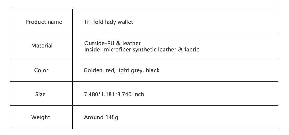 Tri-fold Multi-card Lady Purse in 2019 Fashionable Women Clutch on Clearance Multifunctional Simple Design Leather Purse 8