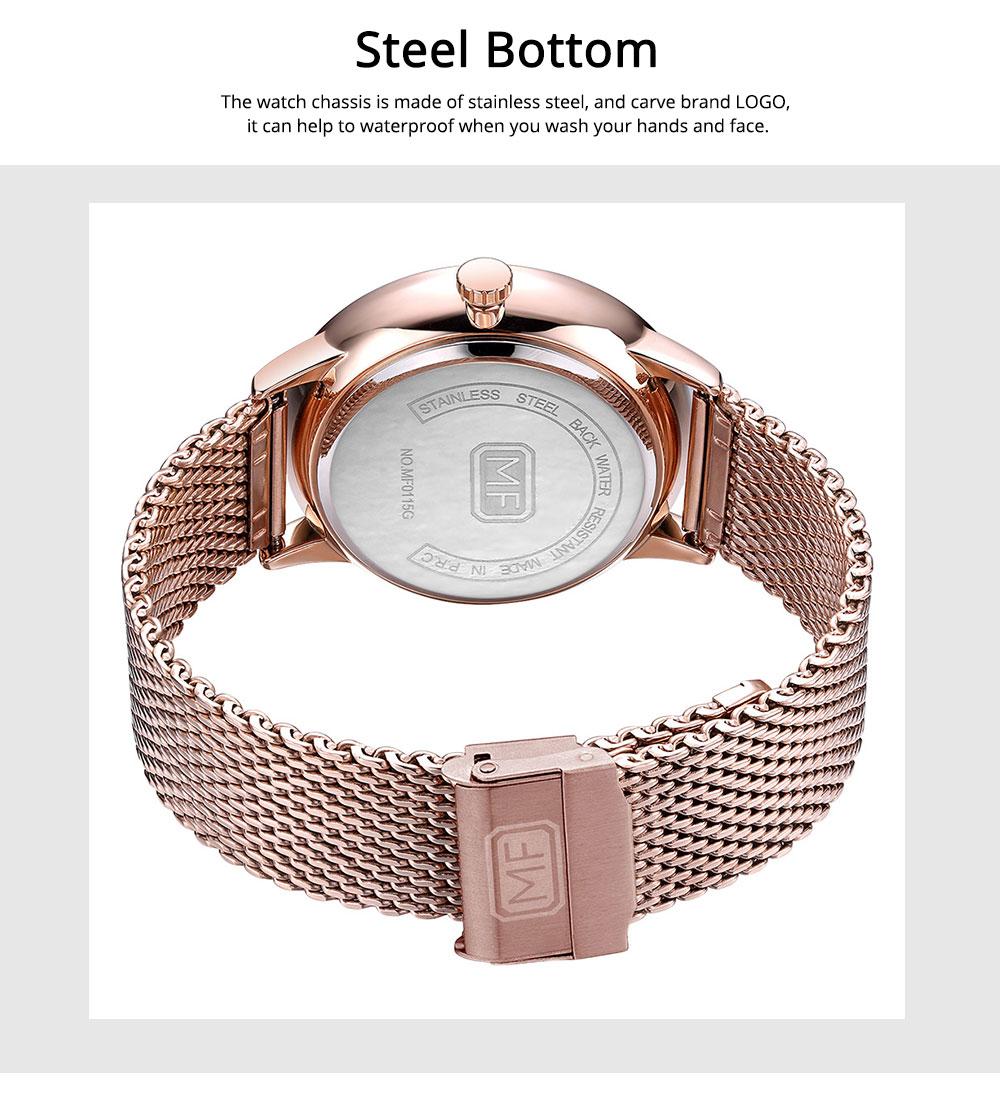 Steel Strap Quartz Watch for Men, Water-proof Round Alloy Dial Watch Wear-proof Classic Watch 2