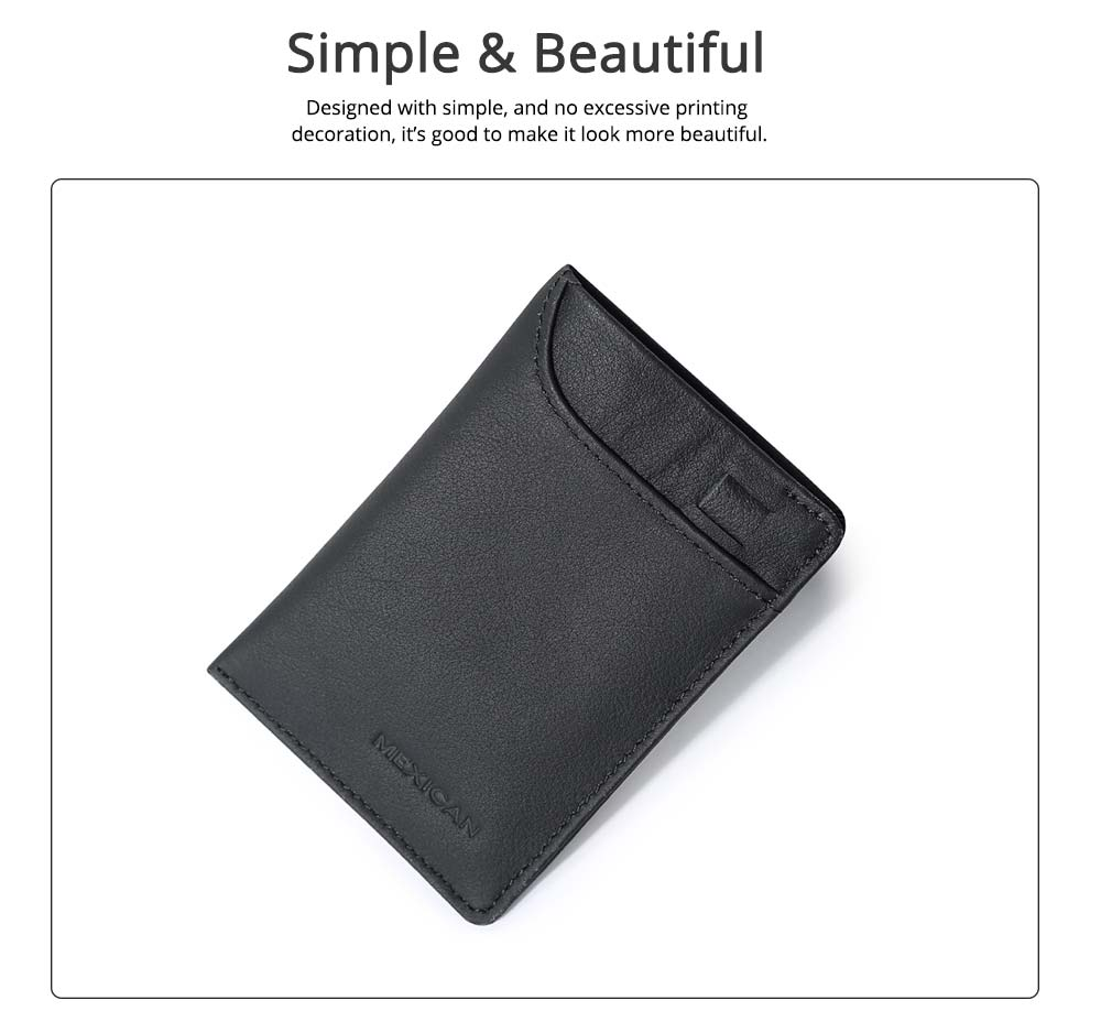 Mini Card Bag Cow Leather Textile Material Bag for Men Several Pockets Packs Portable Thin Card Holder 3