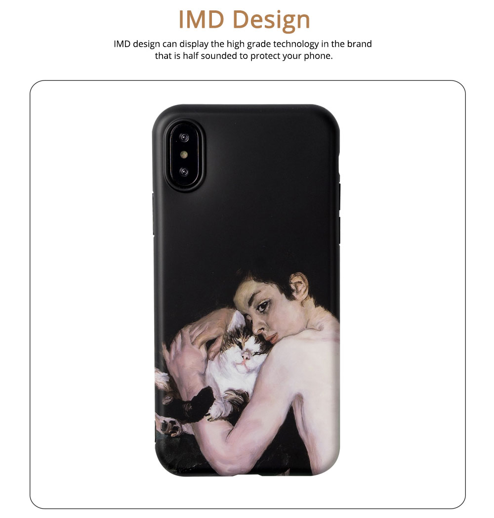 Blue Boy Mobile Phone Cover for iPhone, High-quality TPU Oil Painting Gorgeous Phone Shell 3