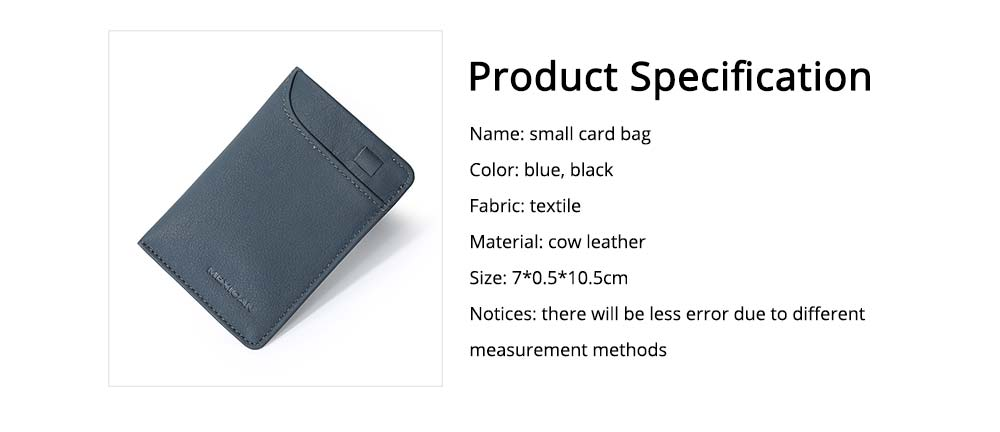 Mini Card Bag Cow Leather Textile Material Bag for Men Several Pockets Packs Portable Thin Card Holder 6