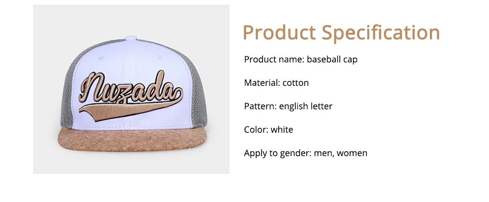 Cotton Hat Headgear with English Letter Pattern Breathable for Women Men Spring Summer Adjustable Cap 6
