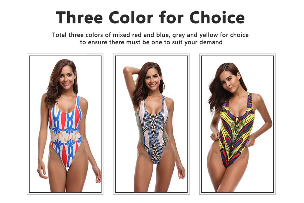 Vintage Style Romance Floral Classic Swimsuit, One-piece Swimsuit Women Bikini Best-selling in 2019  5