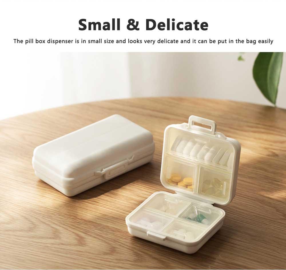 Seven-day Pill Box Dispenser Portable Pill Organizer for Travelling, Mini Medicine Organizer Container with 7 Sub-boxes 1