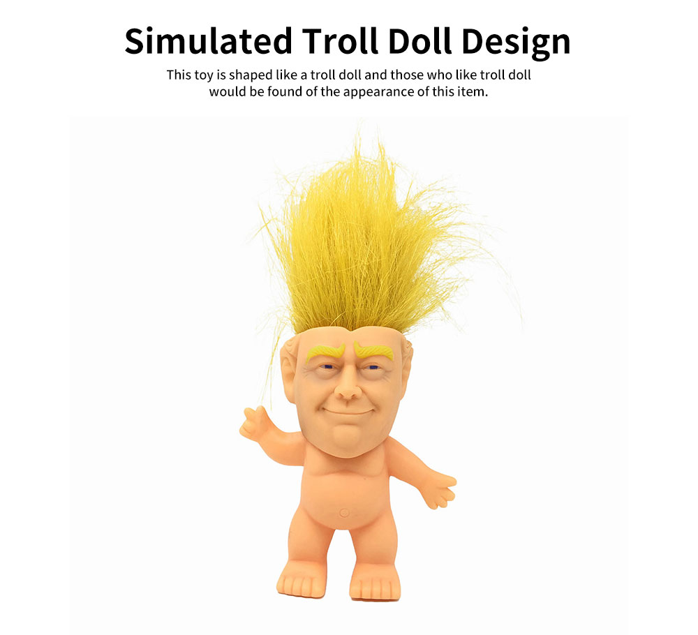 Delicate Smooth Enamel Simulated Troll Doll, Creative Cute Garage Kit Table Ornament Decoration 3