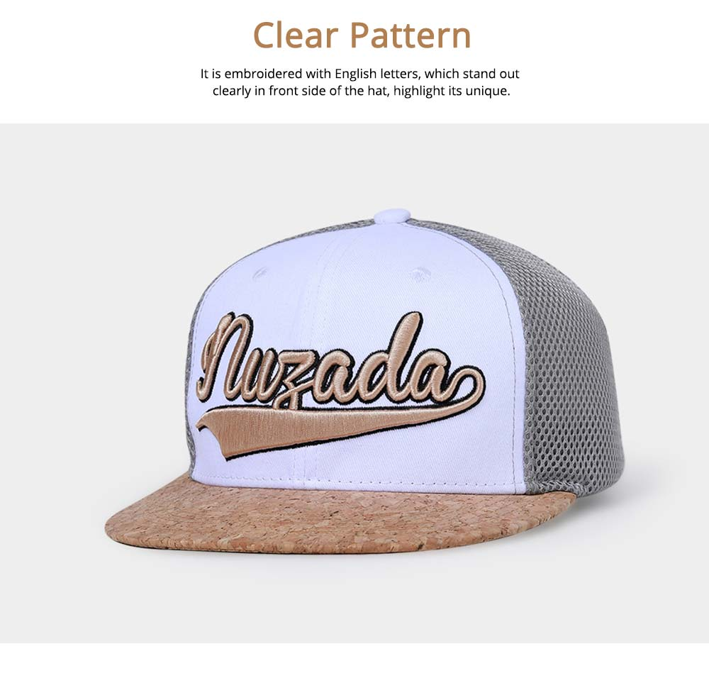 Cotton Hat Headgear with English Letter Pattern Breathable for Women Men Spring Summer Adjustable Cap 2