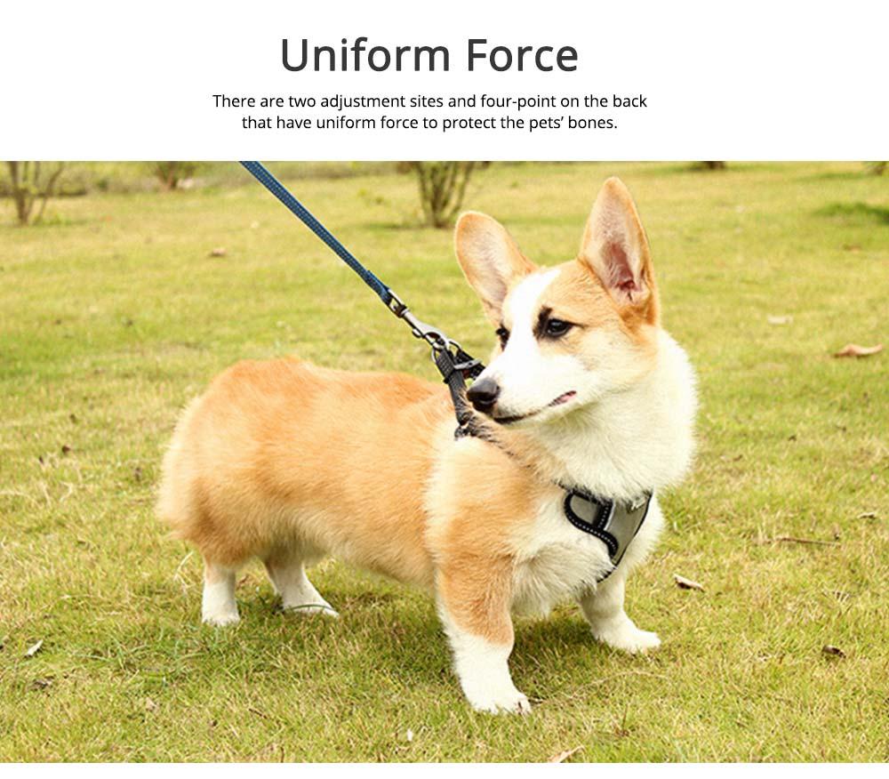 Pet Pectoral Girdle Zinc Nylon Material Straps for Dog Pet Four-point Explosion-proof Shoulder Girdle 4