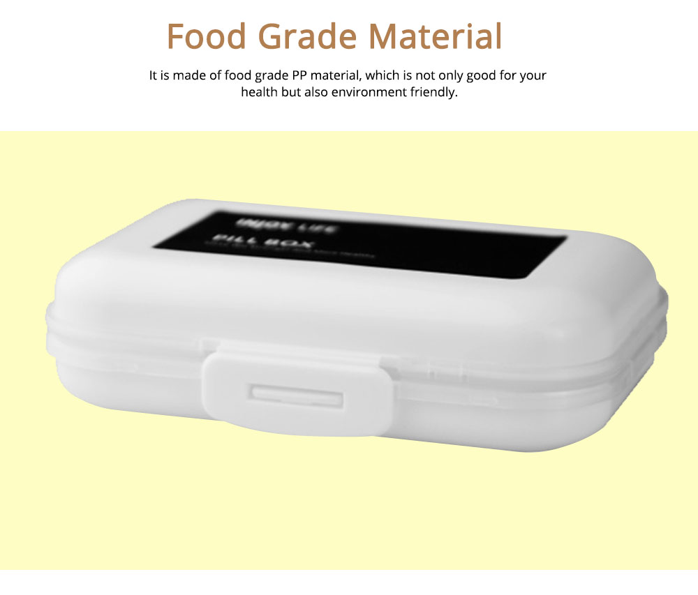Large Capacity Weekly Pill Box for Daily Life Travelling Outdoors, Portable Food Grade PP Jewelry Box 5