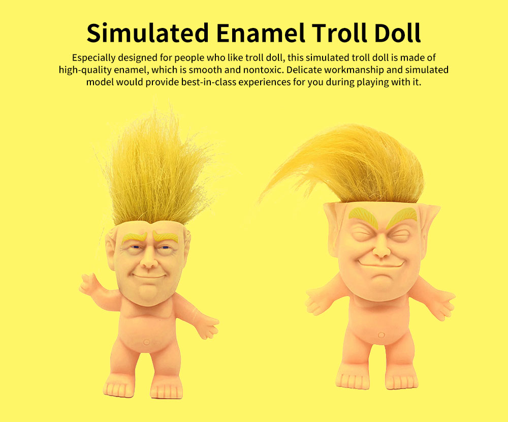 Delicate Smooth Enamel Simulated Troll Doll, Creative Cute Garage Kit Table Ornament Decoration 0