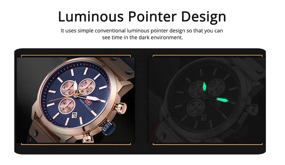 Men's Leather Strap Business Watch with Durable Solid Movement Luxury Wrist Watch 4