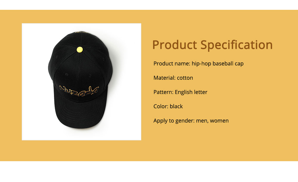 Hip-hop Cap with 3D Embroidery for Women Men, Sunny Day Essential Cap with Adjustable Strap 6