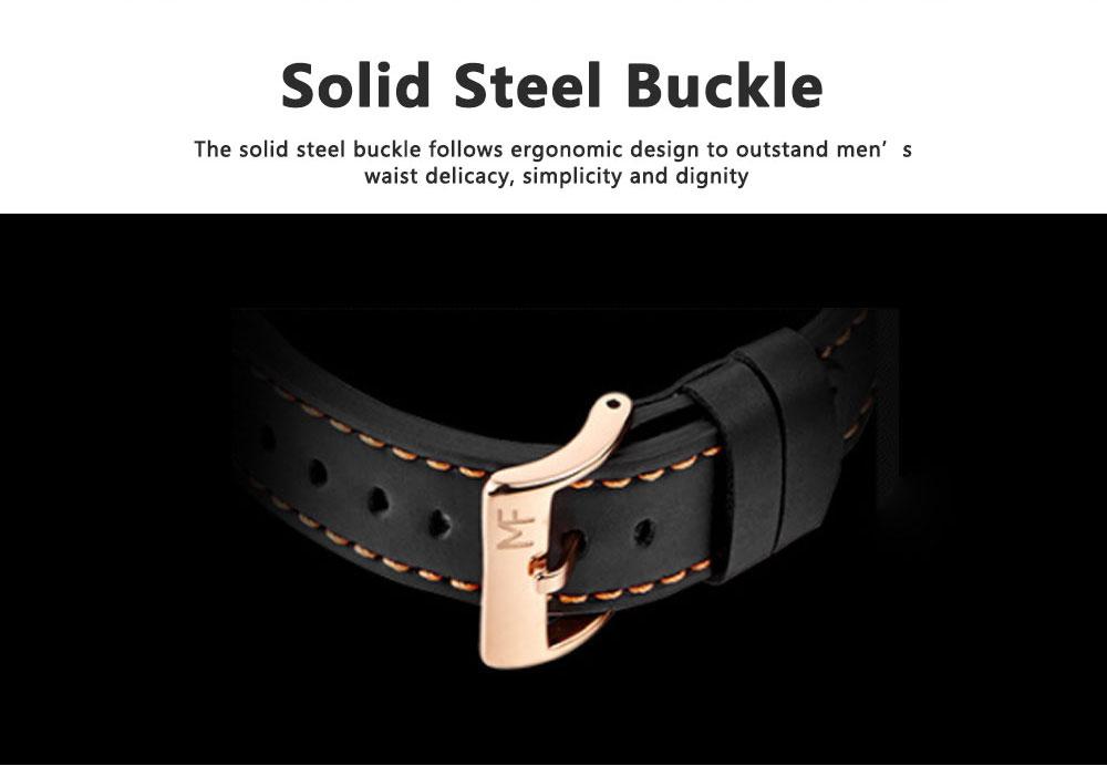 Mini Focus Men's Business Watch, MINI FOCUS Stylish Luminous Watches Leather Bracelet 4