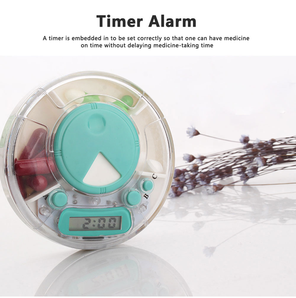 7-Day Electric Pill Box Medicine Organizer Container with Timer Alarm Clock Reminder for Patients 5