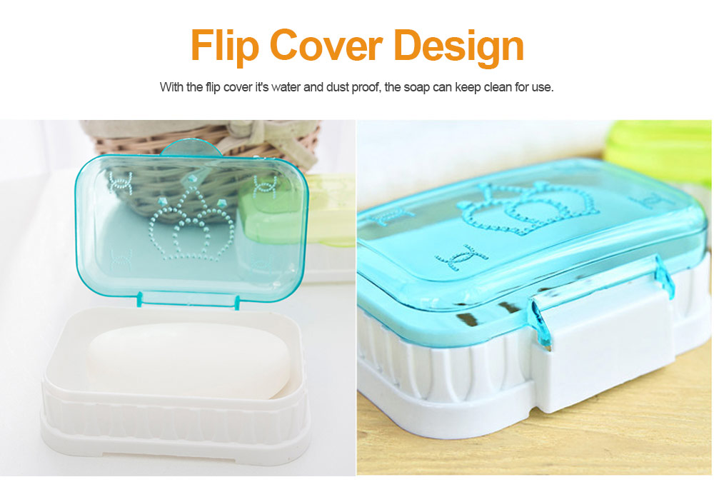Soap Dispenser with Drain Container And Transparent Flip Cover for Bathroom 3