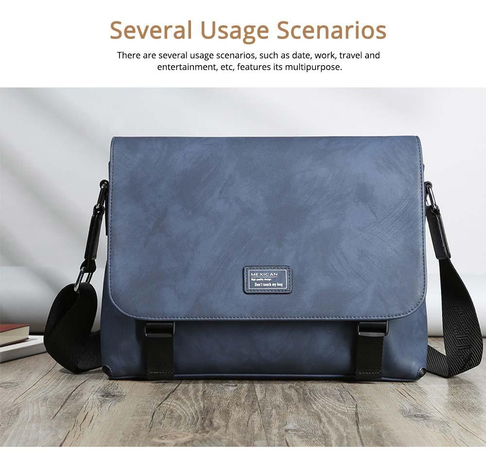 Single Shoulder Bag PU Material Bag for Men Large Capacity Bag Waterproof Pack 4