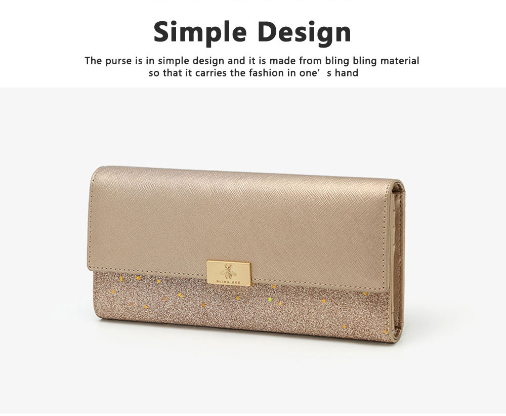 Tri-fold Multi-card Lady Purse in 2019 Fashionable Women Clutch on Clearance Multifunctional Simple Design Leather Purse 1