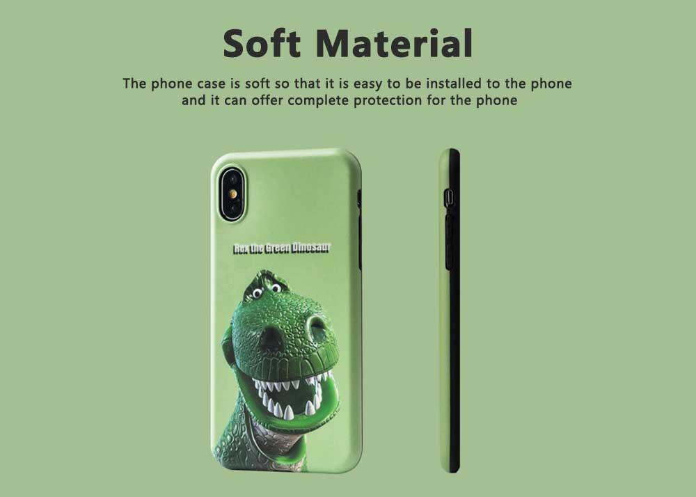 Dinosaur Pattern Creative Phone Case for iPhone 8 plus, iPhone XR,  Trending iPhone 6s/7/7 Plus Phone Cases 2