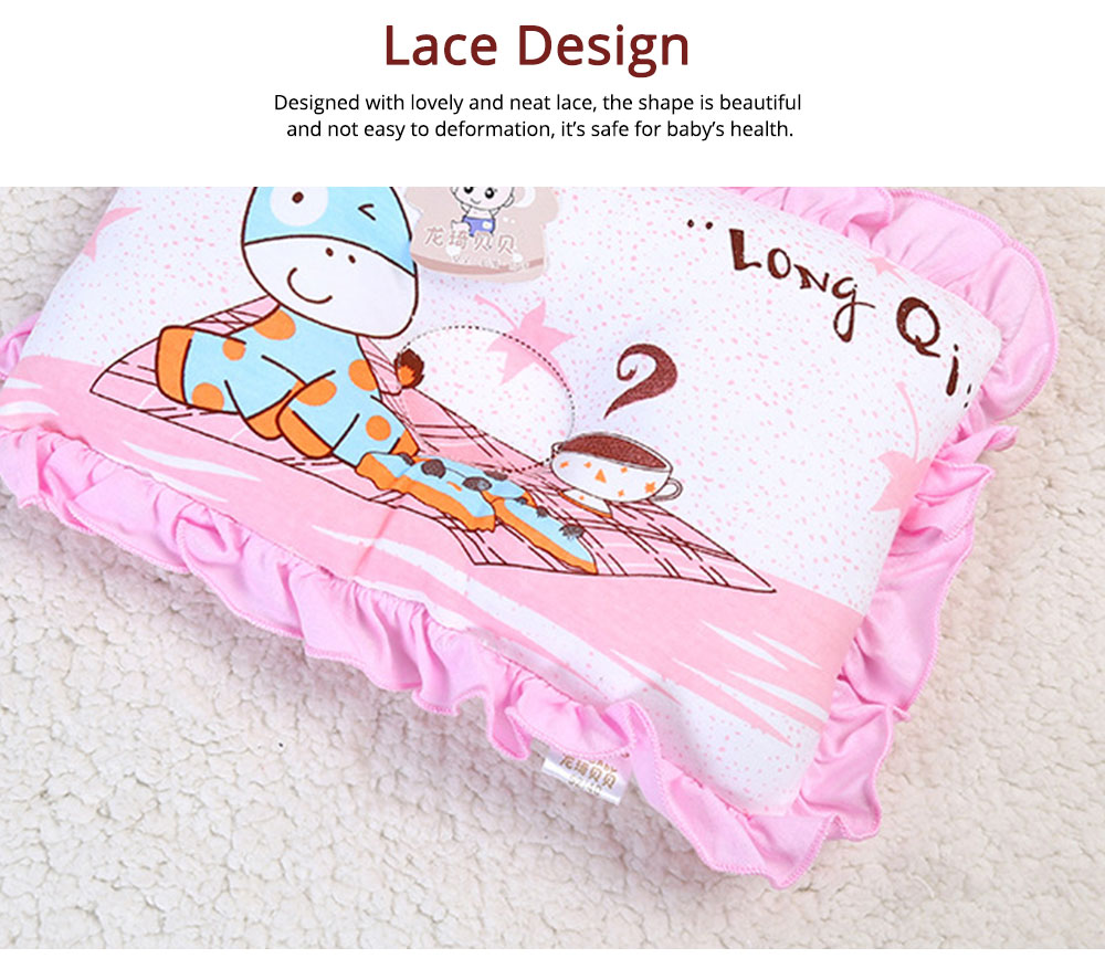 Silk Floss Material Mildew-proof Pillow with Lace Health for Baby Sleep Pillow 4