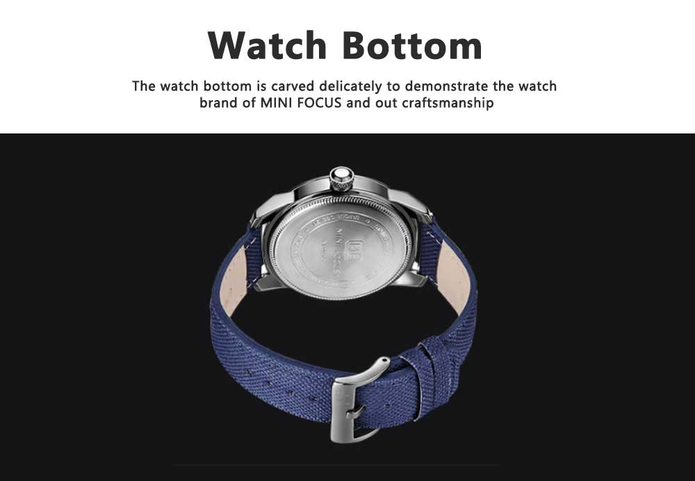 MINI FOCUS Business Watch for Men Luminous Watches with Japanese Movement Mechanism 7