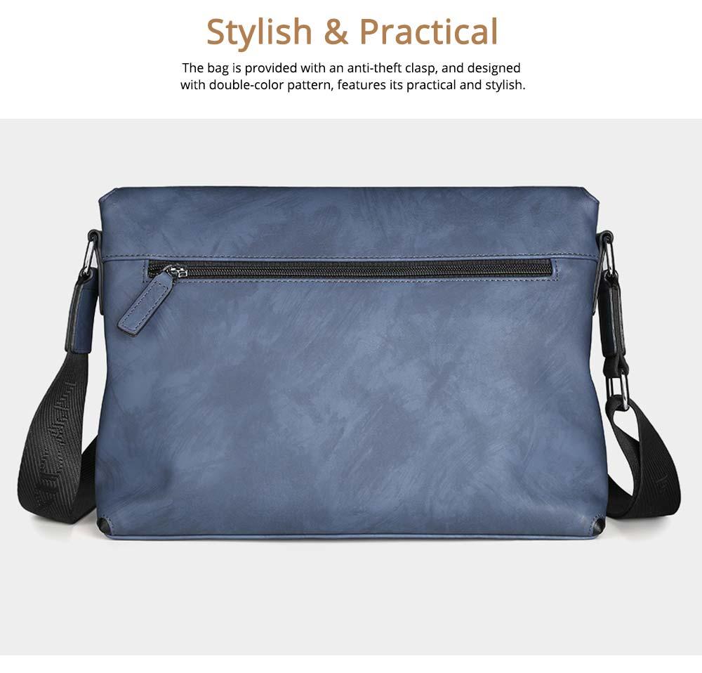 Single Shoulder Bag PU Material Bag for Men Large Capacity Bag Waterproof Pack 5