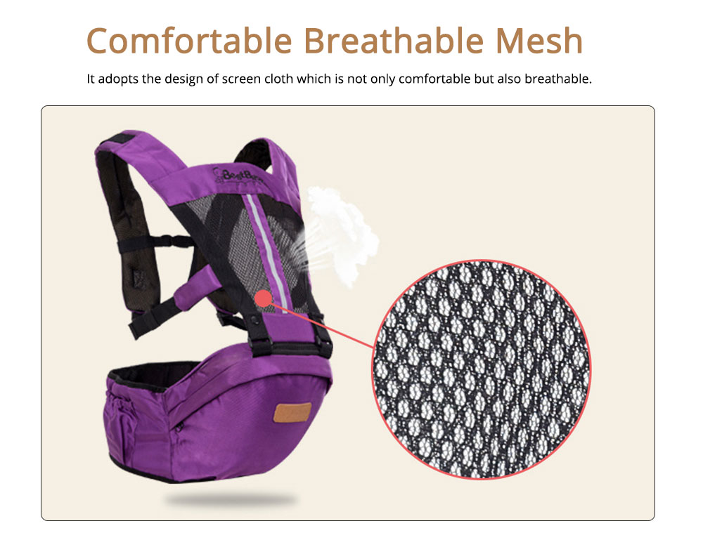 Ergonomic Baby Carrier Baby Sling, Soft & Breathable Baby Carriers Backpack Front and Back for Babies Younger than 36 Months 1