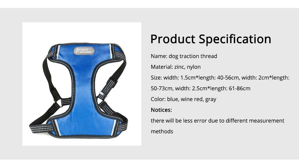 Pet Pectoral Girdle Zinc Nylon Material Straps for Dog Pet Four-point Explosion-proof Shoulder Girdle 6