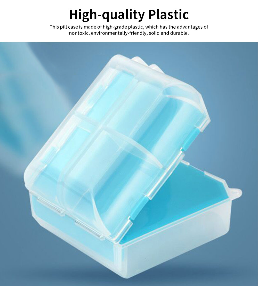 Portable Mini Double Layers Transparent Pill Case, Large Capacity Travel Outdoors Small Jewelry Storage Box 1