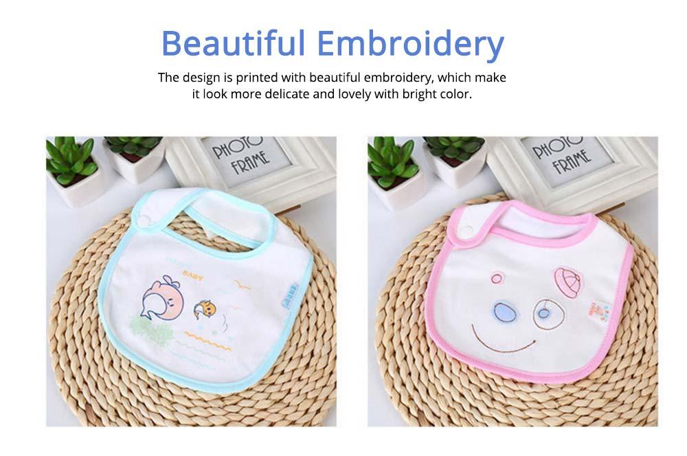 Cotton Velvet Material Saliva Towel for Baby, Waterproof Saliva Cover with Buckle Baby Bib 2